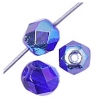 Fire polished 6mm Transparent cobalt Blue Aurora Borealis
